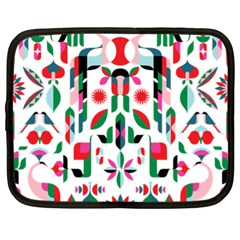 Abstract Peacock Netbook Case (XL)