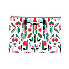 Abstract Peacock Cosmetic Bag (large)