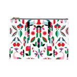Abstract Peacock Cosmetic Bag (Large)  Front