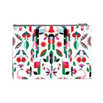 Abstract Peacock Cosmetic Bag (Large)  Back