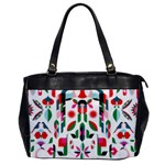 Abstract Peacock Office Handbags Front