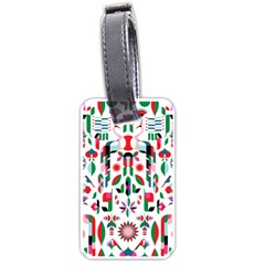 Abstract Peacock Luggage Tags (One Side)