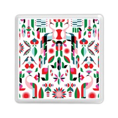 Abstract Peacock Memory Card Reader (Square)
