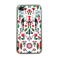 Abstract Peacock Apple iPhone 4 Case (Clear)