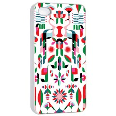 Abstract Peacock Apple Iphone 4/4s Seamless Case (white)