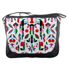 Abstract Peacock Messenger Bags
