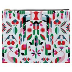 Abstract Peacock Cosmetic Bag (xxxl)