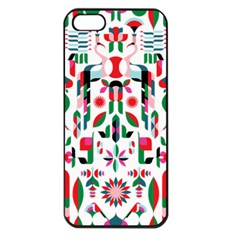 Abstract Peacock Apple Iphone 5 Seamless Case (black)