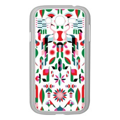 Abstract Peacock Samsung Galaxy Grand Duos I9082 Case (white)