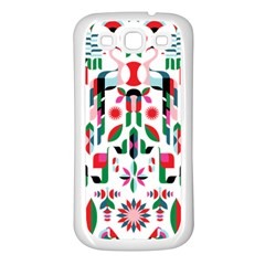 Abstract Peacock Samsung Galaxy S3 Back Case (white)