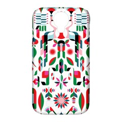 Abstract Peacock Samsung Galaxy S4 Classic Hardshell Case (pc+silicone)