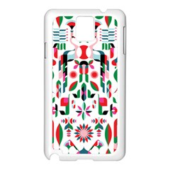 Abstract Peacock Samsung Galaxy Note 3 N9005 Case (white)