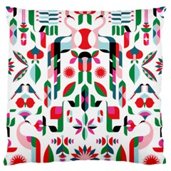 Abstract Peacock Large Flano Cushion Case (two Sides)