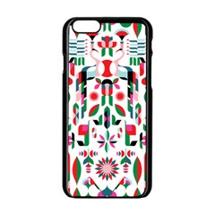 Abstract Peacock Apple Iphone 6/6s Black Enamel Case