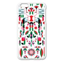 Abstract Peacock Apple Iphone 6 Plus/6s Plus Enamel White Case