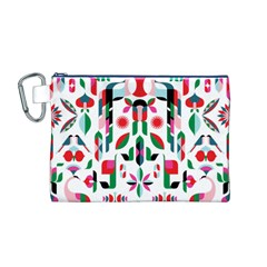 Abstract Peacock Canvas Cosmetic Bag (m)