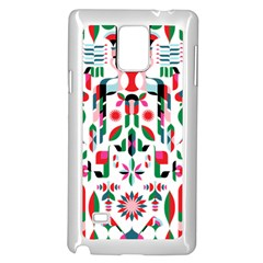 Abstract Peacock Samsung Galaxy Note 4 Case (White)