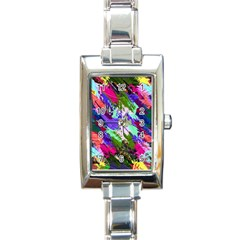 Tropical Jungle Print And Color Trends Rectangle Italian Charm Watch