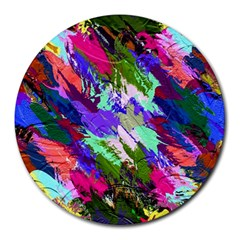 Tropical Jungle Print And Color Trends Round Mousepads