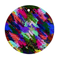 Tropical Jungle Print And Color Trends Ornament (round)