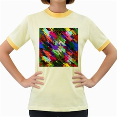 Tropical Jungle Print And Color Trends Women s Fitted Ringer T-Shirts