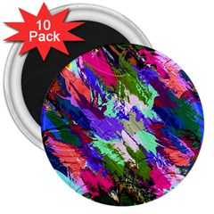 Tropical Jungle Print And Color Trends 3  Magnets (10 Pack)