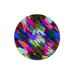 Tropical Jungle Print And Color Trends Rubber Round Coaster (4 pack)