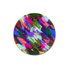 Tropical Jungle Print And Color Trends Magnet 3  (round)