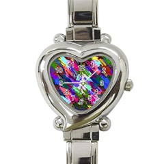 Tropical Jungle Print And Color Trends Heart Italian Charm Watch
