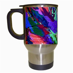 Tropical Jungle Print And Color Trends Travel Mugs (white)