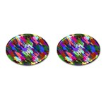Tropical Jungle Print And Color Trends Cufflinks (Oval) Front