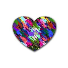 Tropical Jungle Print And Color Trends Rubber Coaster (Heart)