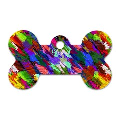 Tropical Jungle Print And Color Trends Dog Tag Bone (Two Sides)