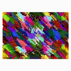Tropical Jungle Print And Color Trends Large Glasses Cloth (2 Side)