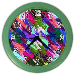 Tropical Jungle Print And Color Trends Color Wall Clocks