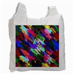 Tropical Jungle Print And Color Trends Recycle Bag (one Side)
