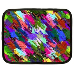 Tropical Jungle Print And Color Trends Netbook Case (xl)