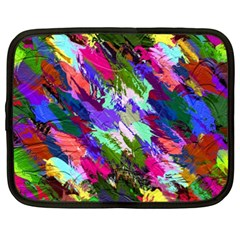 Tropical Jungle Print And Color Trends Netbook Case (XXL)