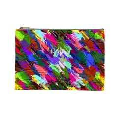 Tropical Jungle Print And Color Trends Cosmetic Bag (large)