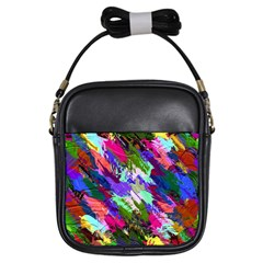 Tropical Jungle Print And Color Trends Girls Sling Bags