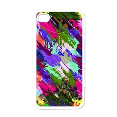 Tropical Jungle Print And Color Trends Apple Iphone 4 Case (white)