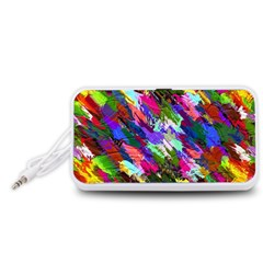 Tropical Jungle Print And Color Trends Portable Speaker (white)