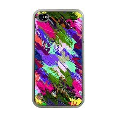 Tropical Jungle Print And Color Trends Apple Iphone 4 Case (clear)