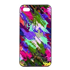Tropical Jungle Print And Color Trends Apple Iphone 4/4s Seamless Case (black)