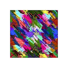 Tropical Jungle Print And Color Trends Acrylic Tangram Puzzle (4  X 4 )