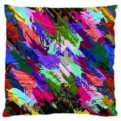 Tropical Jungle Print And Color Trends Large Cushion Case (one Side)
