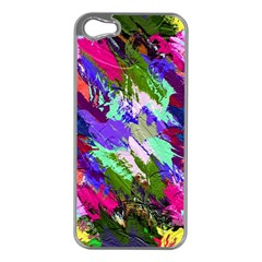 Tropical Jungle Print And Color Trends Apple Iphone 5 Case (silver)