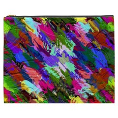 Tropical Jungle Print And Color Trends Cosmetic Bag (xxxl)