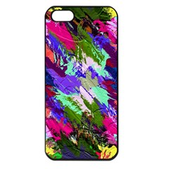 Tropical Jungle Print And Color Trends Apple Iphone 5 Seamless Case (black)