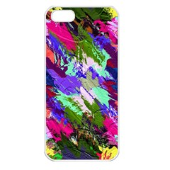 Tropical Jungle Print And Color Trends Apple Iphone 5 Seamless Case (white)